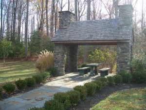 Federal Oaks Sunderland MD 20689 Stone Pavilion Picnic Table