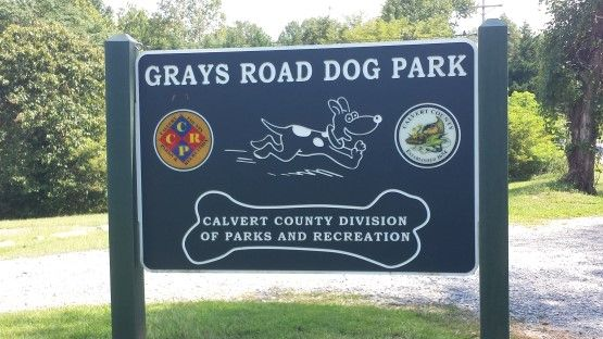 Grays Road Dog Park Prince Frederick MD Sign
