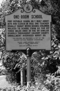 Port Republic School Number 7 One Room Schoolhouse Sign